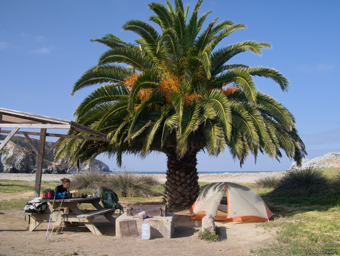 Camping at Little Harbor, Catalina Island