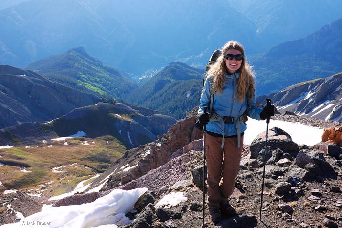 5,700 feet over Ouray on Whitehouse Mountain