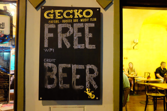 Free Wifi, Great Beer
