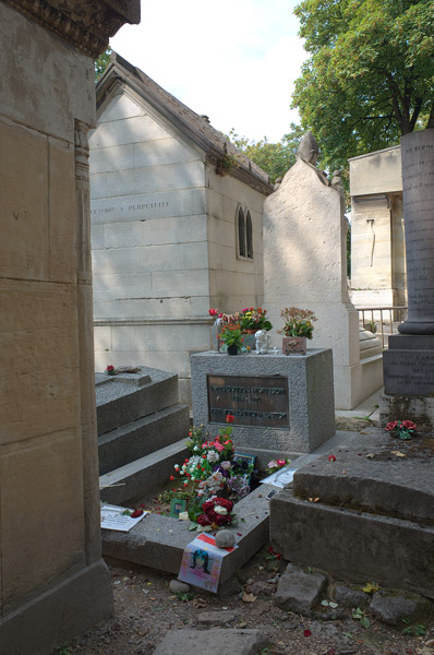 Jim Morrison's grave in Paris