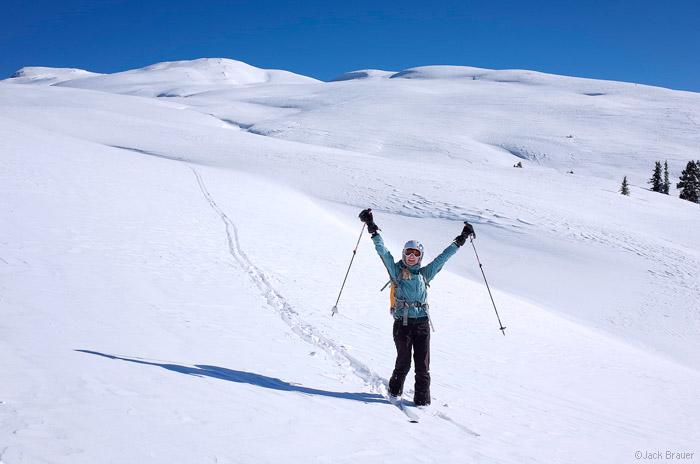 Happy skier, Colorado