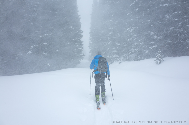 Skinning in a snowstorm
