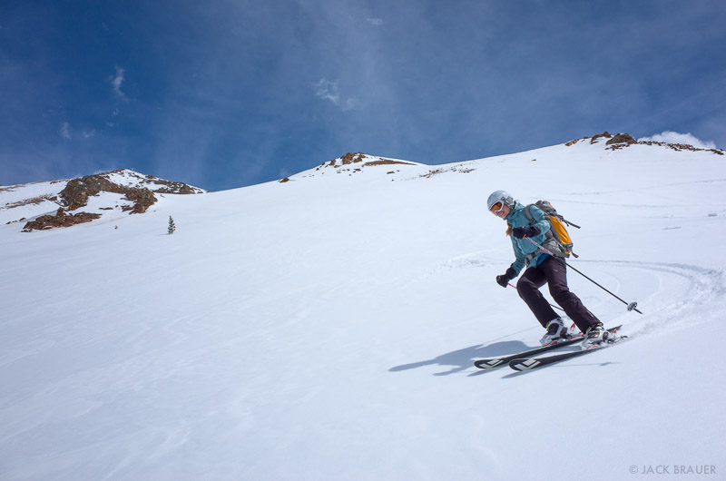Backcountry spring skiing in the San Juans, Colorado