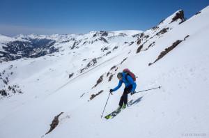 Backcountry skiing in the San Juans, Colorado