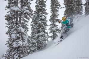Backcountry snowboarding in the San Juans, Colorado