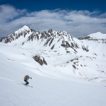 Spring skiing in the San Juans, Colorado