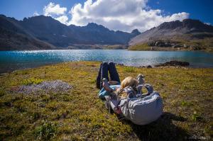 Relaxing at Columbine Lake
