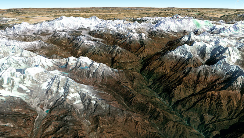 Khumbu - google earth