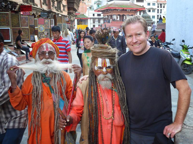 Jack and friends in Kathmandu