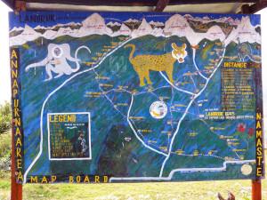 Map in Landruk