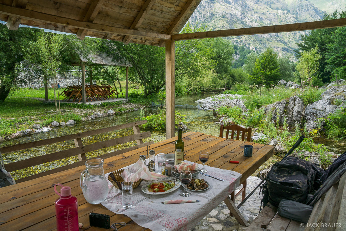 Remnants of a feast in Valbona.