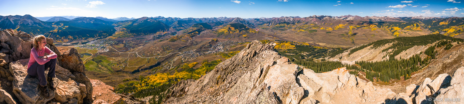 Mt Crested Butte Summit Pano