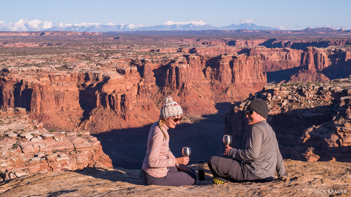 Wine time in the canyonlands.