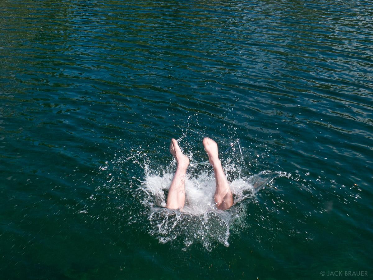 Taking a swim!