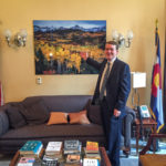 Sneffels Range Autumn print in Senator Bennet's DC office