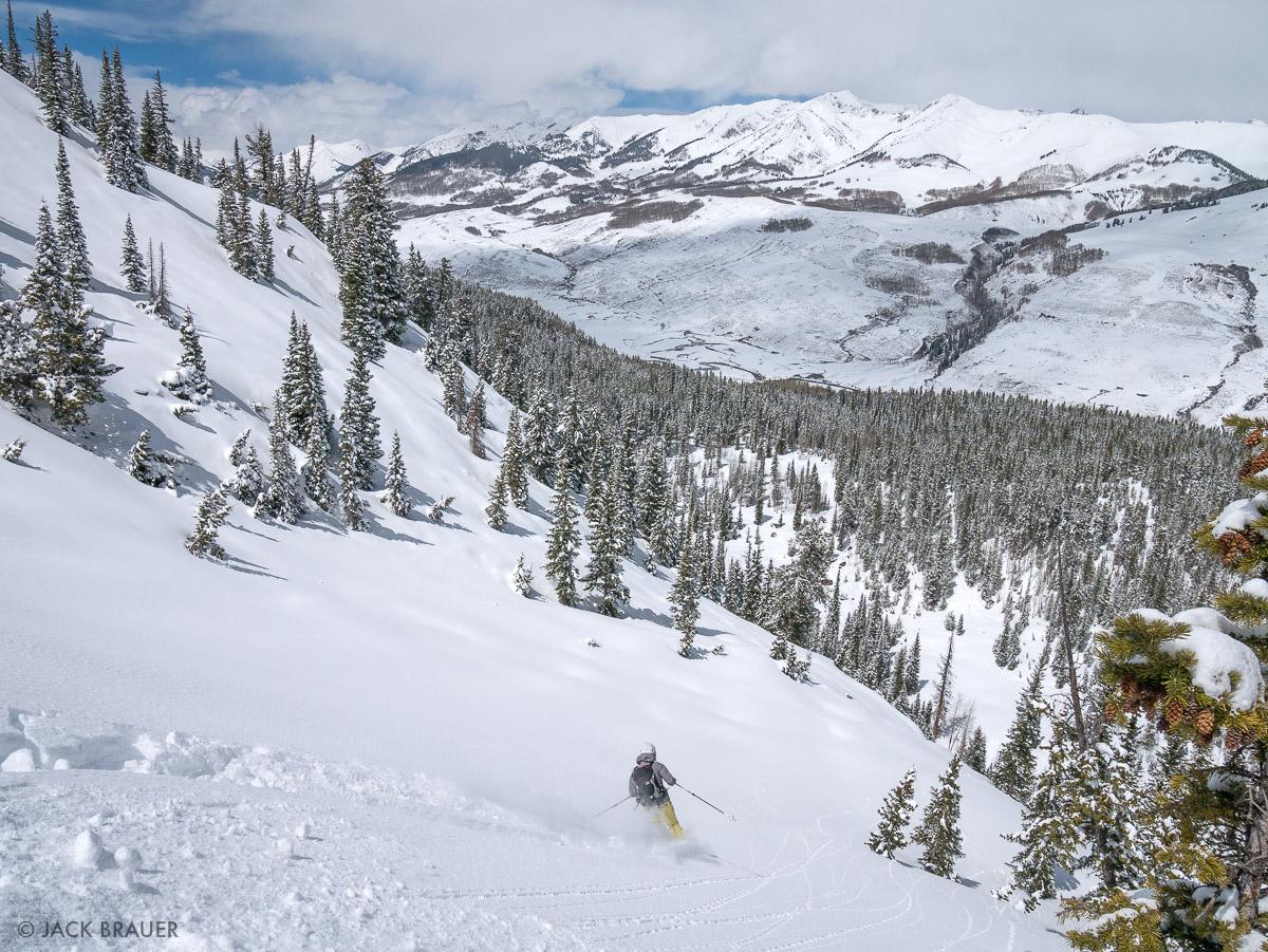 Claudia skis Phoenix Bowl.