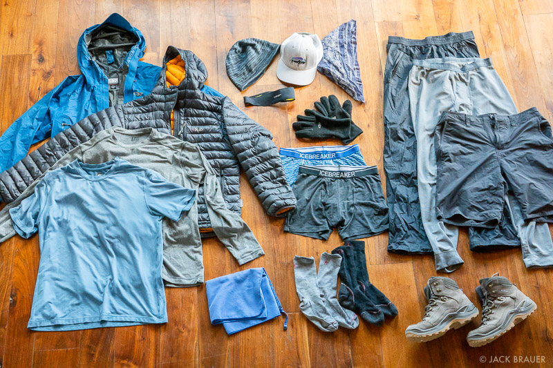 My summer backpacking clothes.
