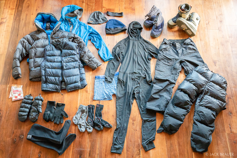 My winter backpacking clothes
