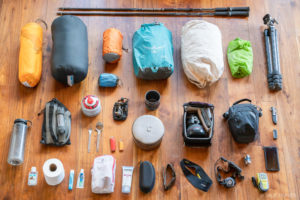 Summer backpacking gear